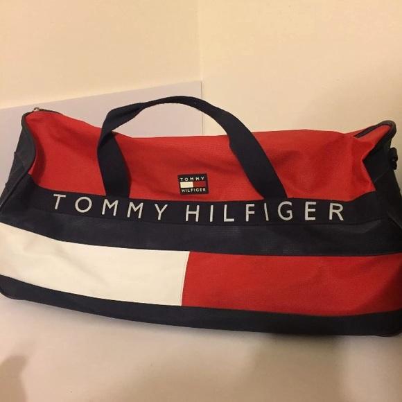 e9712a9066 Vintage TOMMY HILFIGER Big Flag Duffle Gym Bag 90s.  M_5b6d8011bb7615c2ddc6bbb0